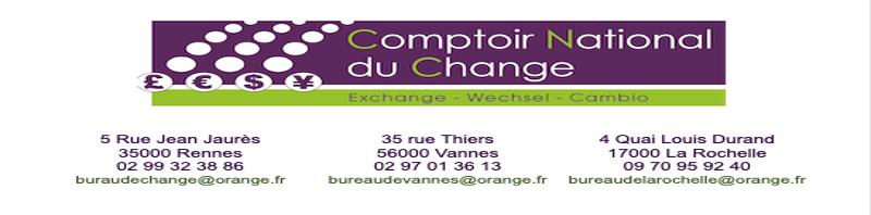Bureau de change Rennes Vannes La Rochelle
